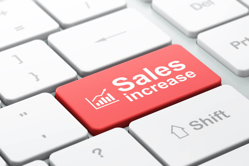 picture of sales growth with wesite design and website optimization